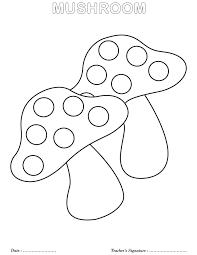letter mushroom coloring mushroom chanterelles