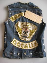 motorcycle jacket vest sold on ebay vintage motorcycle club vest w outlaw patch