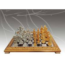 romans vs barbarians chess set