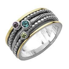 spinner ring silver 14k gold multi gemstone spinner ring paz creations ltd
