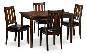 boyd 5 piece dinette set dark brown cherry leon u0027s