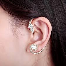 one ear earring okajewelry show wrap cuff earring comeback as a fashion trend