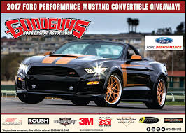 mustang convertible 2017 ford performance giveaway mustang convertible