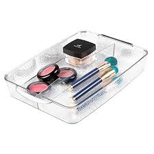 hair and makeup organizer mdesign cosmetic organizer tray for vanity cabinet to hold hair
