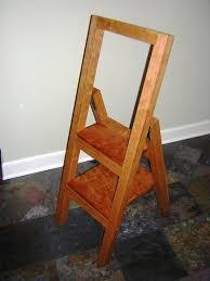 folding step stool by jagwah lumberjocks com woodworking