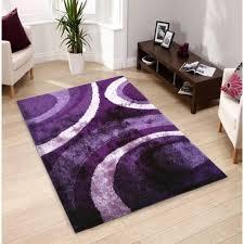 Purple Shag Area Rugs Rug Addiction Tufted Purple Shag Area Rug 5 X 7 5 X 7