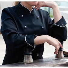 chef de cuisine femme veste chef de cuisine pour femmes manches longues passepoil