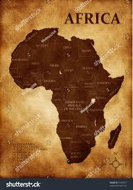 Africa On The Map by Map Africa On White Background Stock Illustration 91084751