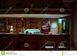bar counter with chairs editorial photography image 70619427