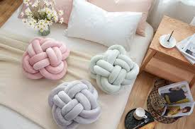 online shop lovely knot ball cushion pillow baby sweet pillow sofa