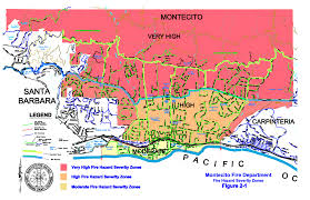 California Wildfires Map District Maps Montecito Fire