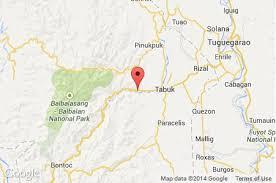map of tabuk kalinga mayor wounded for running inquirer news