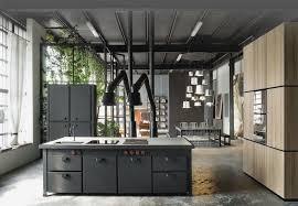 Black Metal Kitchen Cabinets Industrial Home Interior For Kitchen With Black Metal Cabinet And
