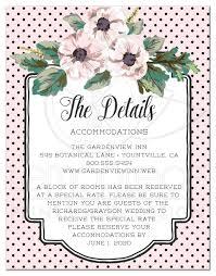 enclosure cards wedding enclosure cards retro polka dots flowers