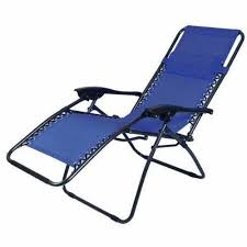 Patio Recliner Lounge Chair Zero Gravity Recliner Lounge Chair Blue Pack Of 2