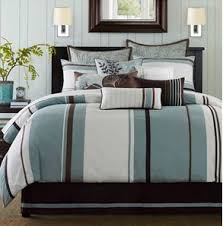 Navy Stripe Comforter Set Bedspreads Comforters Queen On Blue And Brown Striped Bedding Blue