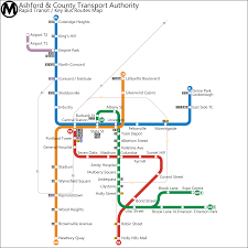 Blue Line Metro Map by Ashford Cathnoquey Metro System Blue Orange Lines As
