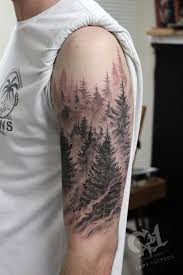 pine tree forest by capone tattoos
