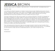 cover letter for early childhood educator beautiful cover letter for early childhood educator 68 for cover