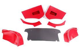 Triumph Tr3 Interior Triumph Tr3 Interior Trim Kit Red With White Piping Rimmer Bros