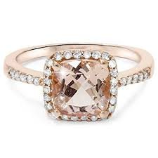 morganite gold engagement ring 2 5 8ct cushion morganite vintage halo engagement ring 14k
