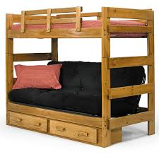 Bedroom Fancy Twin Over Futon Bunk Bed For Kids And Teens Bedroom - Wood bunk bed with futon
