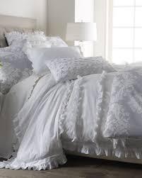 india rose white ruffle bed linens king ruffled duvet cover 104 x