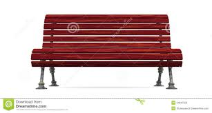 Wood Slat by Red Wood Slat Bench Isolated Royalty Free Stock Images Image