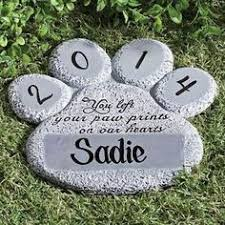 dog grave markers personalised pet memorial pebble painted pet grave