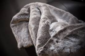 Faux Fur Throw Rugs Amazon Com Chinchilla Fake Faux Fur Throw Blanket Rug With