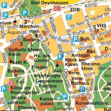 Hotels Bad Oeynhausen Stadtplan City Zentrum Bad Oeynhausen Nrw Deutschland Karte Und
