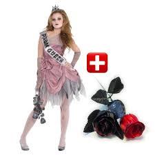 scary zombie halloween costumes for girls girls zombie prom queen fancy dress costume teen halloween
