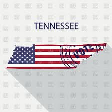 State Map Of Tennessee by State Of Tennessee Map With Flag And Presidential Day Vote Stamp