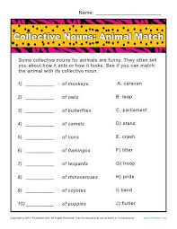 collective nouns worksheets free worksheets library download and