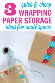 ways to store wrapping paper the no pressure crafts decor organization page 3 of 22
