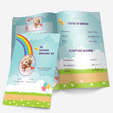 baby funeral program rainbow funeral phlets