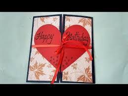 birthday cards for boyfriend a beautiful birthday card idea for boyfriend complete tutorial