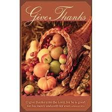 give thanks unto the lord psalm 107 1 thanksgiving bulletins