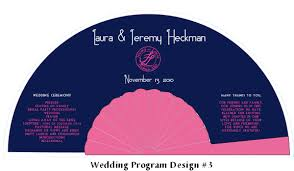 personalized folding fans wedding program fan design 3 fanprinter your source for
