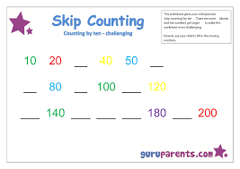 Counting By Tens Worksheets For Kindergarten Skip Counting Guruparents