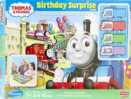 birthday surprise game thomas train friends toy train thomas