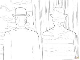 decalcomania by rene magritte painting coloring page art