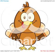cartoon images of thanksgiving turkey clipart of a cartoon cute thanksgiving turkey bird waving