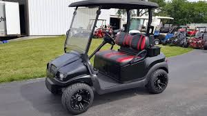 satin black golf cart club car with custom wheels for sale from