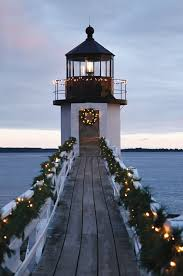 christmas lighthouse christmas and the beach what more could you