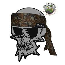 sandana headband headband exclusive brown flying skulls