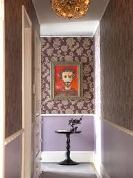 chic small hallway with patterned wall design small hallway