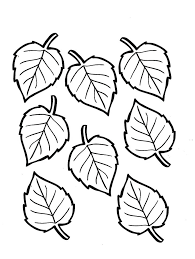leaf coloring pages printable best fall leaves coloring pages for