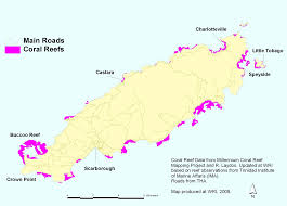 Trinidad World Map by Coral Reefs Tobago World Resources Institute