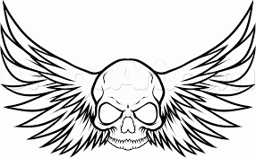 draw a harley davidson skull by drawing sheets added by
